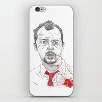 shaun of the dead iPhone & iPod Skins featuring Shaun of the Dead by Andy Christofi