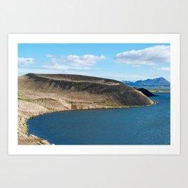 Iceland: Skutustadagigar pseudocraters Art Print
