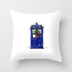 Christmas Phone Box Throw Pillow