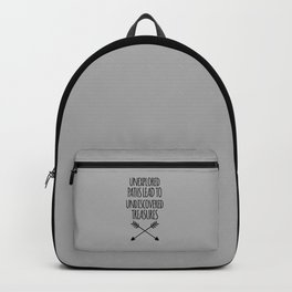 Unexplored Paths Quote Backpack