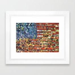JASPER JONES POLLOCK FLAG Framed Art Print