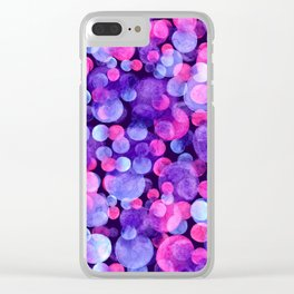 Ultra violet watercolor boken circles Clear iPhone Case
