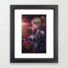 Zero Suit Samus Framed Art Print