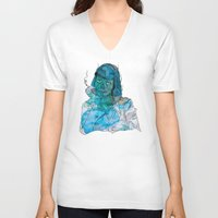 mia wallace V-neck T-shirts featuring Mia  by Albert F. Montoya