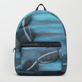 Spa Pebbles on Blue Phosphorescence Backpack