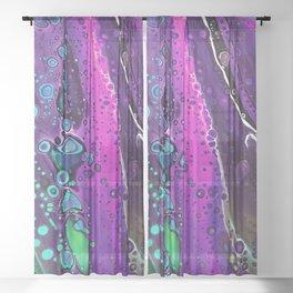River Trip - purple Sheer Curtain