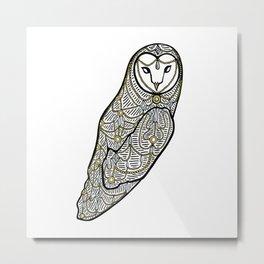 Jewelled Owl Metal Print