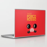 miyazaki Laptop & iPad Skins featuring Porco Rosso - Miyazaki - Alternative Cartoon Poster by Stefanoreves