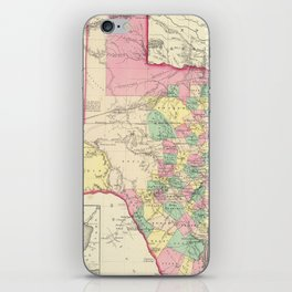 Vintage Map of Texas (1856) iPhone Skin