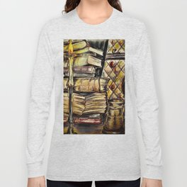 Candles, books and mead Long Sleeve T-shirt