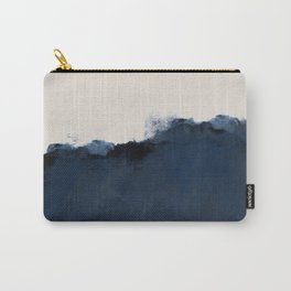 Abstract, blue, beige, indigo Carry-All Pouch