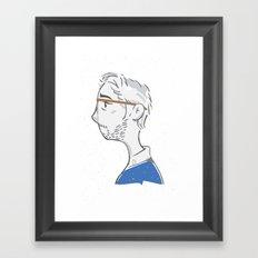 Portrait in Melancholia Framed Art Print