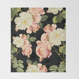 Flora temptation - night Throw Blanket