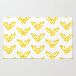 Butterfly Pattern Yellow 2 Rug