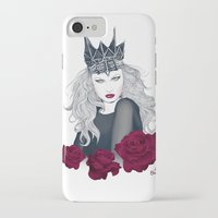 evil queen iPhone & iPod Cases featuring Evil Queen by Crecre