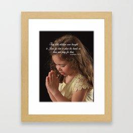 Matthew 19:13 Framed Art Print
