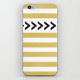 ARROW STRIPE {MUSTARD} iPhone Skin