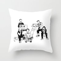 the neighbourhood Throw Pillows featuring The neighbourhood: band  by artbysteph