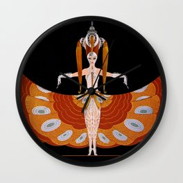 "Art Deco Design ""The Hindu Princess"" by Erté Wall Clock"