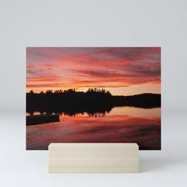 Cottage Sunset Mini Art Print