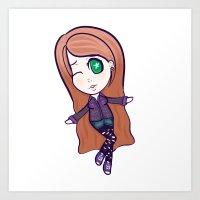 Cute Brooke Chibi Art Print