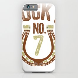 Luckiest No. 7 iPhone Case