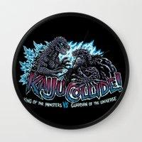 kaiju Wall Clocks featuring Kaiju Collide by Austin James