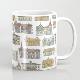 Wooden houses of Hjo Coffee Mug