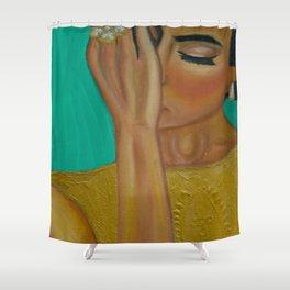 Anita - Golden Woman Shower Curtain