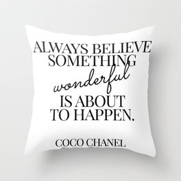 coco quote Throw Pillow