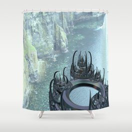 The forgotten town of Moher Shower Curtain