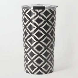 kilim black and white Travel Mug