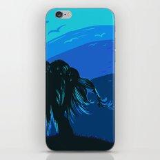 The tree blows at night iPhone & iPod Skin