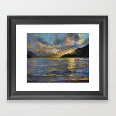 New Zealand Sunset Framed Art Print