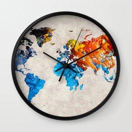 World Map 35 Wall Clock