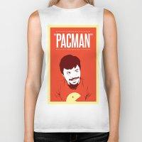 pacman Biker Tanks featuring Pacman by Yo Jimbo