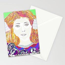 Summer time Lady Stationery Cards