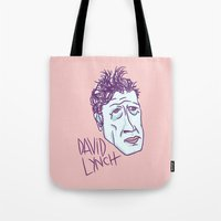 david lynch Tote Bags featuring DAVID LYNCH by Josh LaFayette