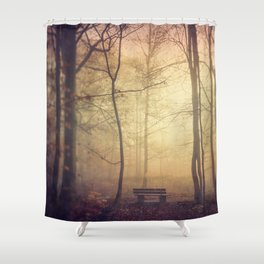 Lover's Bench Shower Curtain