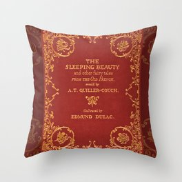 Vintage Sleeping Beauty Book Cover, Fairy Tale Throw Pillow