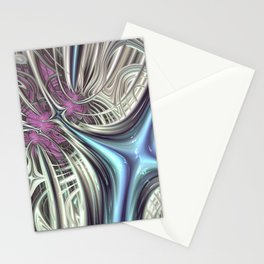 Cosmic Orchid - Fractal Art Stationery Cards