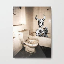 Minotaur taking his bath Metal Print