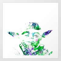 yoda Art Prints featuring Yoda by NKlein Design