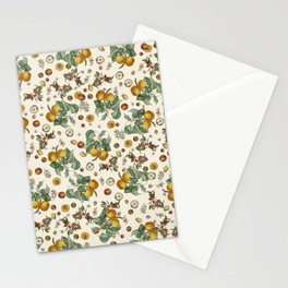 Apples Pears Peaches Stationery Cards