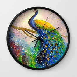 Gorgeous peacock Wall Clock