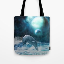 Freedom of dolphins Tote Bag