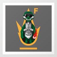 Crocodile Gena Art Print