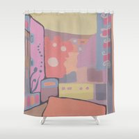 portugal Shower Curtains featuring OPORTO (PORTUGAL) by Valentina Paglia