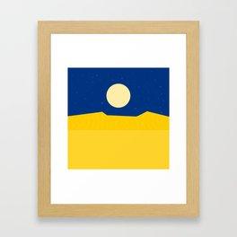 Desert night Framed Art Print