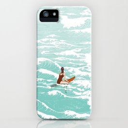 Out on the waves iPhone Case